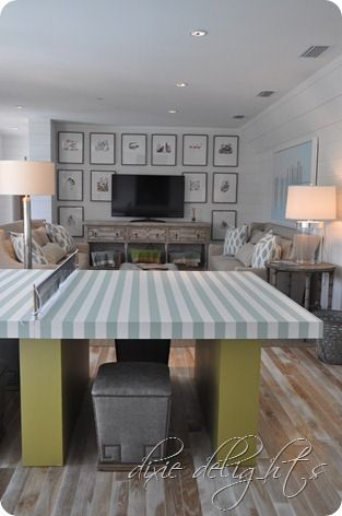gallery of pics on tv wall: Rosemary Beaches, Ping Pong Table, Beaches House, Built In, Tv Wall, Beach Houses, Ultimate Beaches, Coastal Living, Awesome Rooms