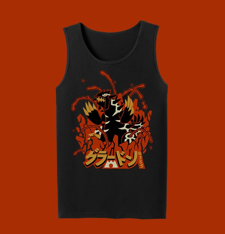 SHINY Groudon Tank Top Pokemon Tank Top by InksterInc on Etsy https://www.etsy.com/listing/240511606/shiny-groudon-tank-top-pokemon-tank-top