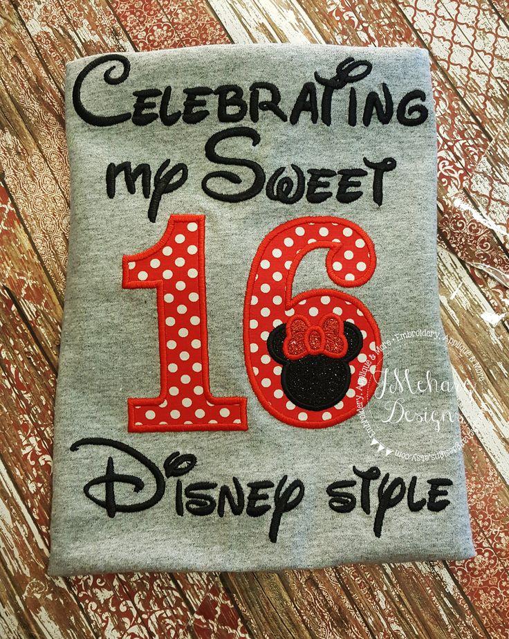 Disney-Inspired Birthday Shirt - Sweet 16 - Custom Birthday Tee 802c by JMehargDesigns on Etsy