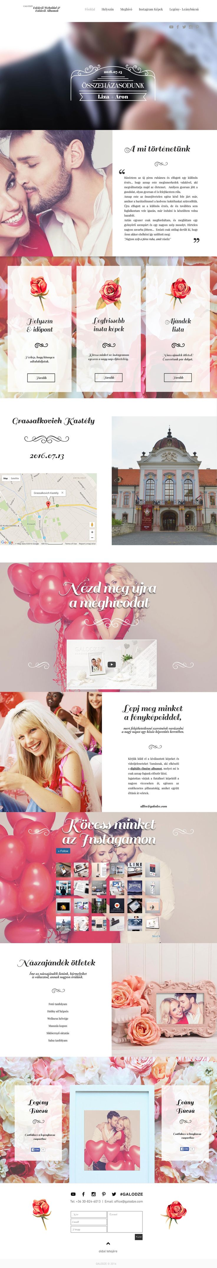 Galodze Wedding Site I.  Ready for customization according to your style. Get in touch with us: office@galodze.com Get Social: http://facebook.com/galodze http://youtube.com/GalodzeHungary http://instagram.com/galodze