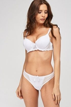 2c3d6ef89367 Lace Insert Bra And Brief Set | Get Dressed Already! | Fashion ...