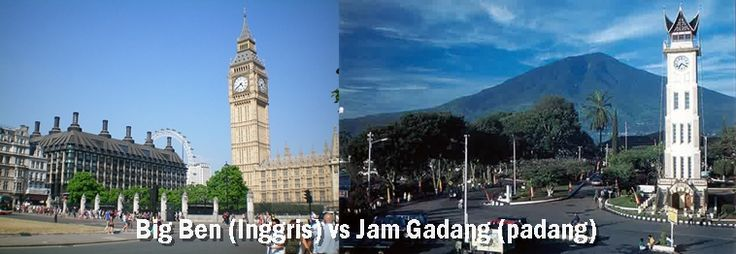 Big ben inggris vs jam gadang indonesia