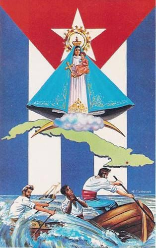 La Caridad del Cobre y la Bandera Cuba