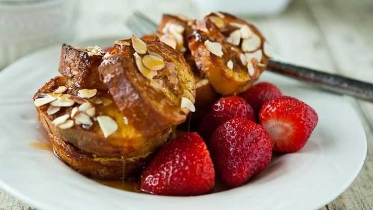 Blogger Angie McGowan of  Eclectic Recipes shares a fun and easy grown-up breakfast treat. Boozy French Toast Cups  Learn to make this recipe with our how-to  article.