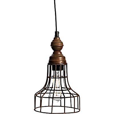 Vintage Iron Torch Pendant Light