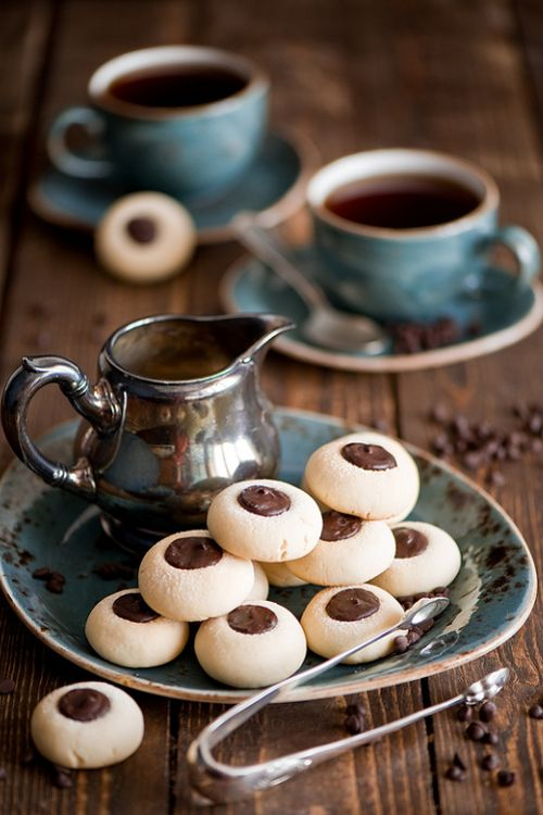 Picture this!! A cuppa your favorite coffee and a special sweet treat! Is that melted chocolate in that creamer?   Yeeeeeesss!