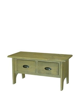 65% OFF 2 Day Designs Vermont Foyer Bench, Fern