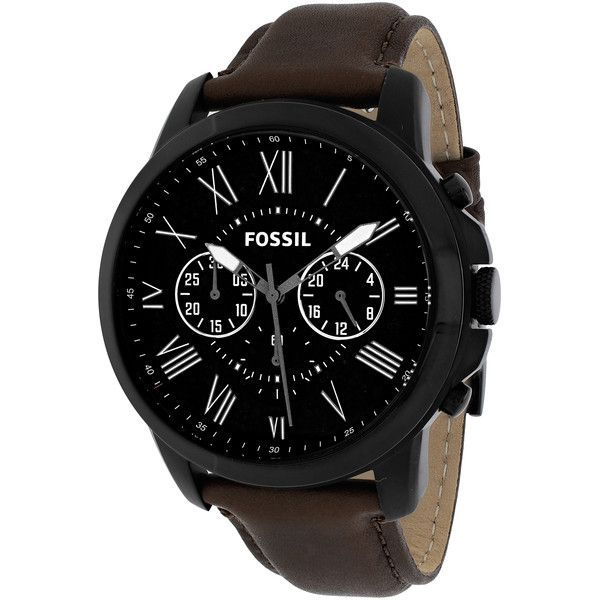 Fossil Men's FS4885 Grant Brown Chronograph Watch (Fossil Men's Grant... ($107) ❤ liked on Polyvore featuring men's fashion, men's jewelry, men's watches, black, mens chronograph watches, mens brown leather watches, mens chronograph watch, mens watches jewelry and fossil mens watches - best mens watches, popular mens watches, mens watches cheap