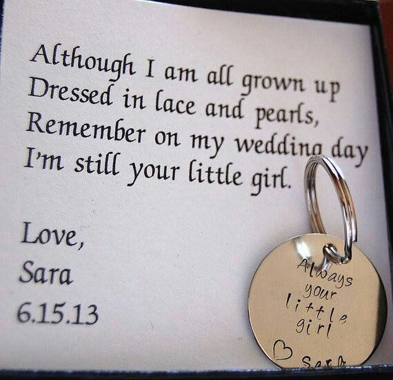 Father of the Bride Keychain, Gift for Father of the Bride, Personalized Nickel…