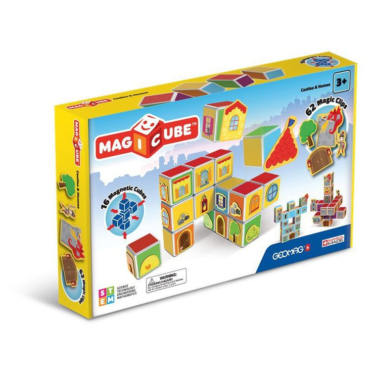 Fun lives here, with the cubes and clips of Magicube: you can build truly magical castles and homes with them.