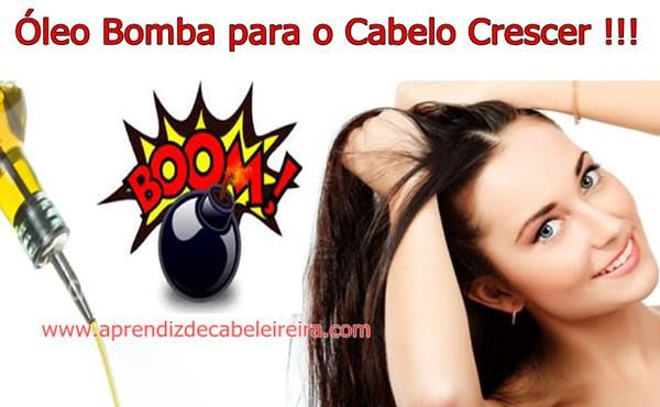 ÓLEO BOMBA para  o CABELO CRESCER ABSURDAMENTE- Aprenda a Receita ! http://www.aprendizdecabeleireira.com/2015/09/oleo-bomba-para-o-cabelo-crescer.html