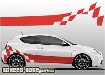 Alfa XL vinyl racing stripe graphics