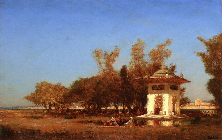 The Fountain of the Sultan Mihrisah , by Felix Ziem