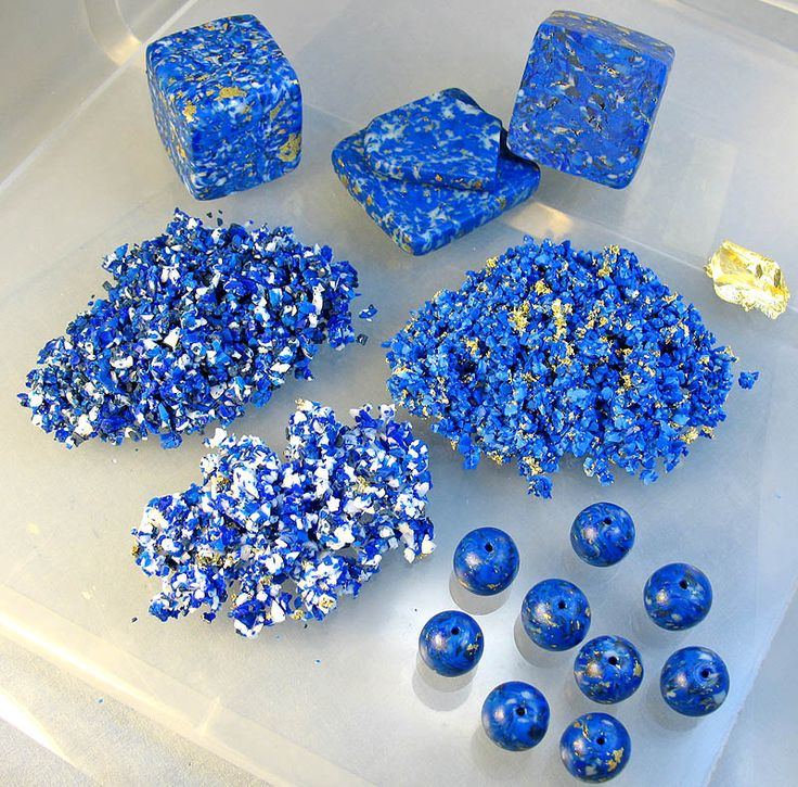 FREE TUTORIAL: How To Make Faux Lapis Lazuli from polymer clay.