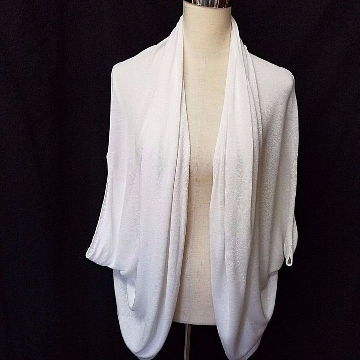 MELISSA MC CARTHY SEVEN 7 Sz 1X IVORY SHORT SLEEVE COCOON CARDIGAN PERFECT #MelissaMcCarthySeven7 #Cardigan #Casual