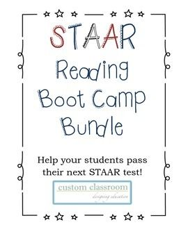 The STAAR reading Boot Camp Bundle is full of extra practice and vocabulary to help your students prepare for and pass their next STAAR reading test. he five reading passages are short excerpts from the following popular novels: Mockingjay by Suzanne Collins The Giver by Lois Lowry The Lightning Thief by Rick Riordan Divergent by Veronica Roth