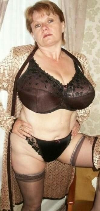 image Mature fatty in nylons teaches younger couple sex