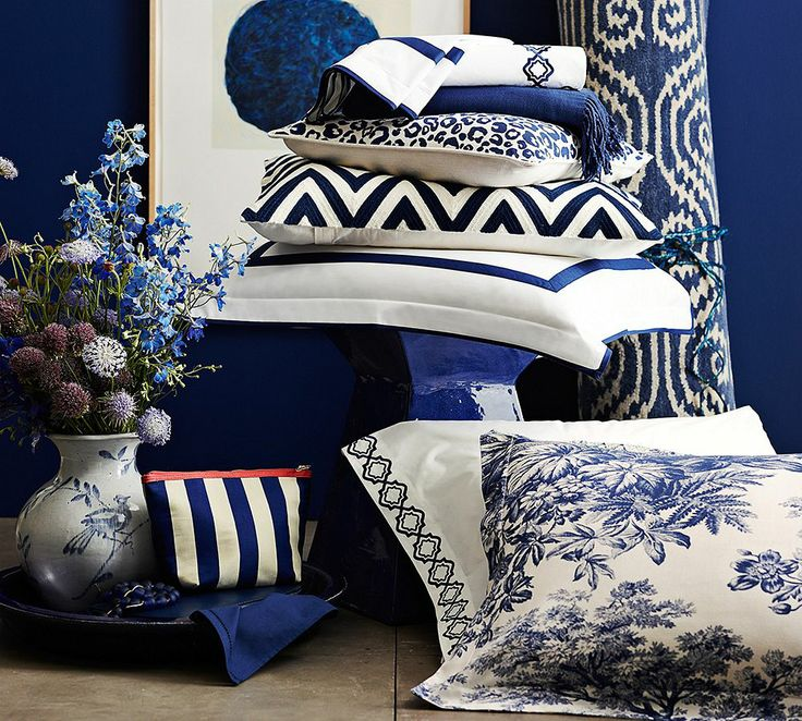 Brilliant blues for the bedroom