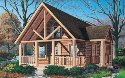 Hideaway II Log Home Plan - LogHome.com