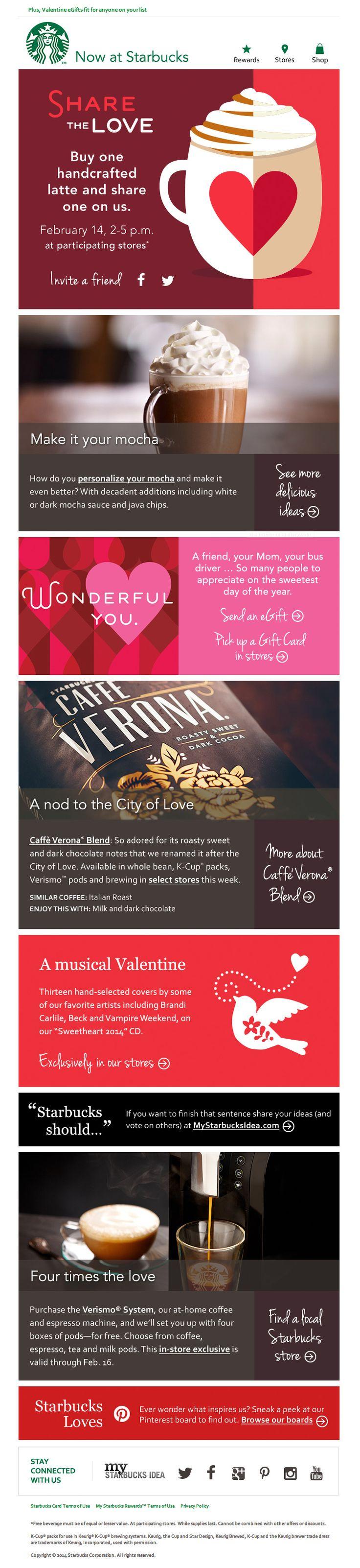 Valentine s day email marketing ideas starbucks