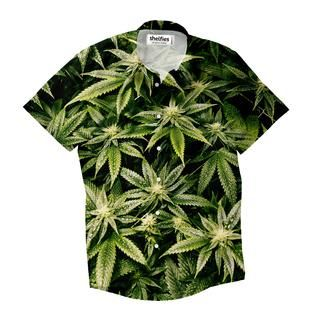 """""""Are you a fan of nature? Enjoy foliage? This Kush button downis for the greatest plant aficionados out there."""""""