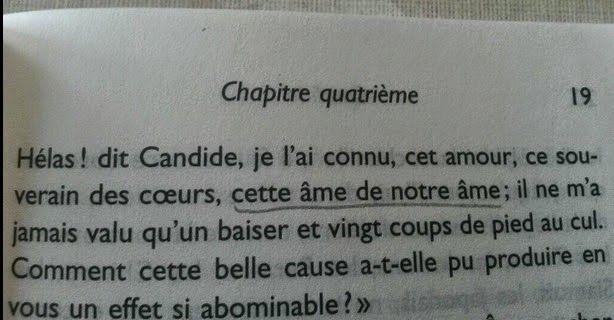 I calci nel sedere di Candide
