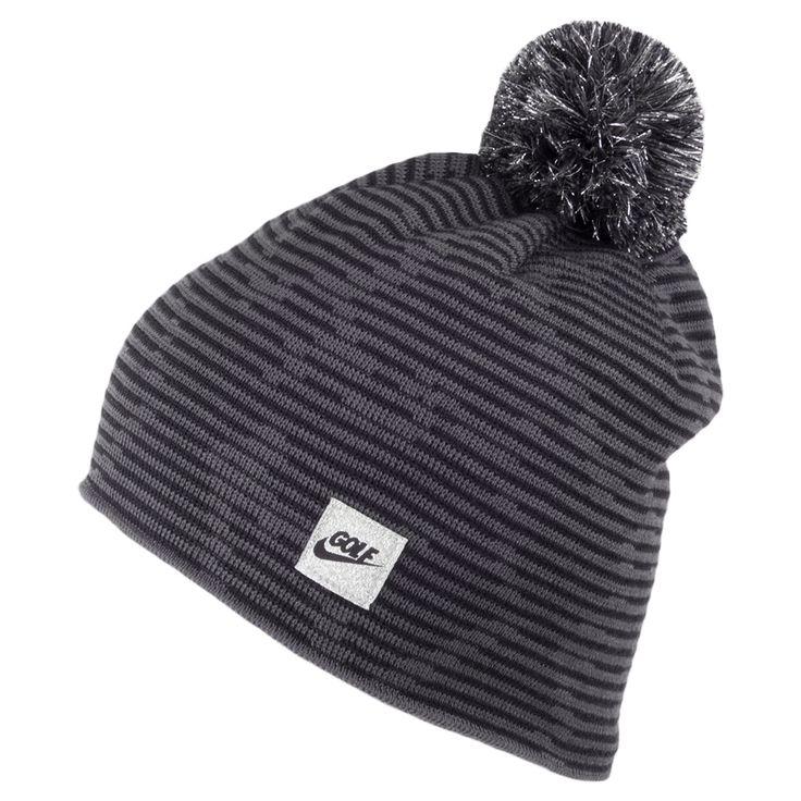 Nike Golf Hats Camoanimal Knit Bobble Hat - Grey-Black ...