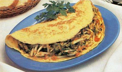 Como hacer omelette relleno con brotes de soya
