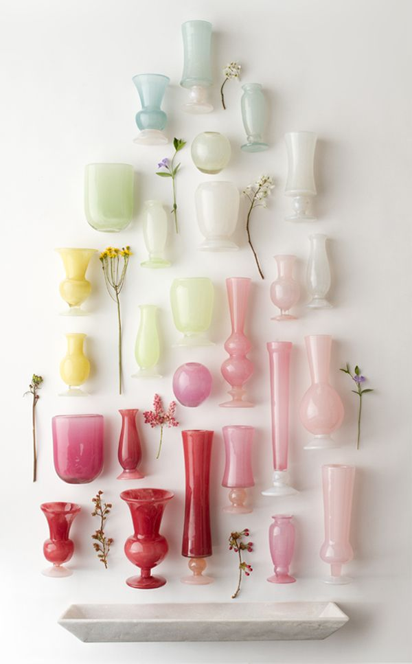 hand blown vases at terrain #colorstory