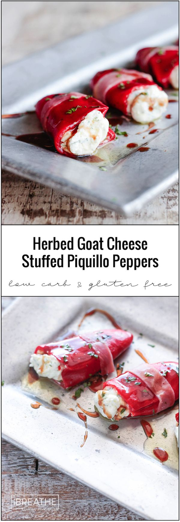 There's no cooking required for these easy low carb herbed goat cheese stuffed…