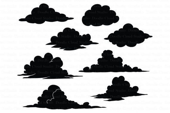 Clouds Svg Files For Silhouette Cameo And Cricut Clouds Etsy In 2020 Cartoon Clouds Silhouette Design Studio Svg