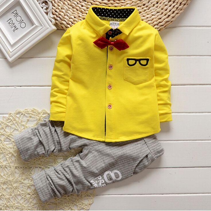 2016 lente herfst baby jongens / meisjes kleding set kinderen outfits gentleman kleding set glazen cardigan 2 stuks kinderen sport pak set