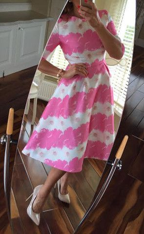 Lisa Pink Floral Dress - Lady VB
