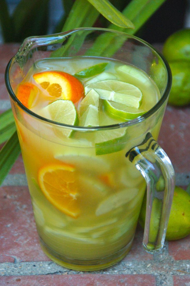Batch Drinks: Cucumber, Orange, Lime & Vodka Cocktail  Exchange vodka for gin...yum