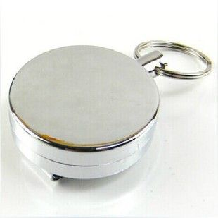 4 cm easy to pull all-metal buckle elastic rope high resilience anti-lost burglar retractable key ring key chain