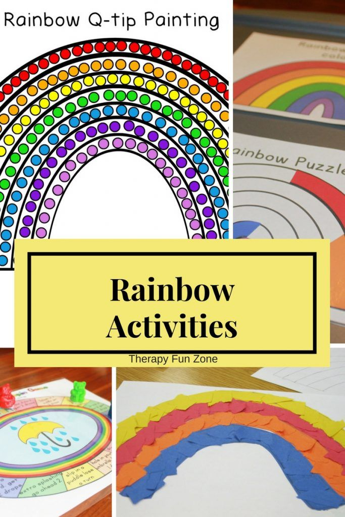 Rainbow Fine Motor Activities with Q-tip Painting - Therapy Fun Zone. Pinned by SOS Inc. Resources pinterest.com/sostherapy/