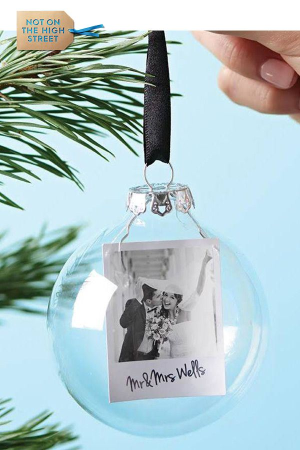 Photo Mr And Mrs Personalised Christmas Bauble Crafty