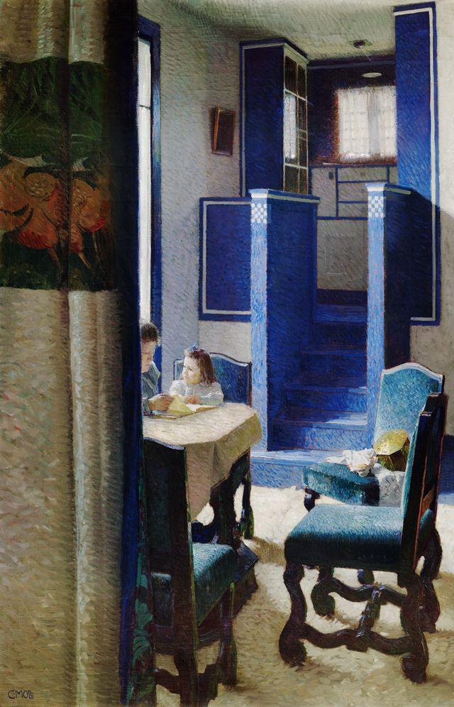 Carl Moll:  - Salon im Haus auf der Hohen Warte / Salon in the house on the Hohe Warte