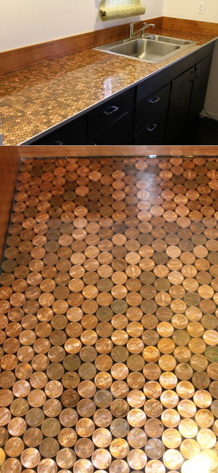25 best ideas about penny countertop on pinterest bar for Como hacer un bar de madera