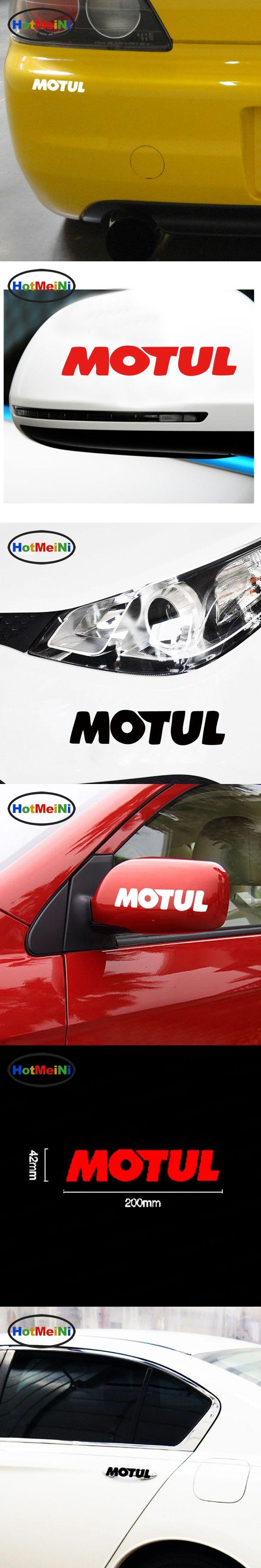 HotMeiNi 20*4.2cm Hot Sale Cool Motul Oil Body Stickers Car Sticker JDM vinyl Decal drop Car Styling Accessories Black/Sliver