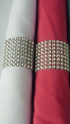 These are the easiest napkin rings to make!! Basically you are just using bling mesh and gluing it down the cut seam..   From Wedding Bee DIY