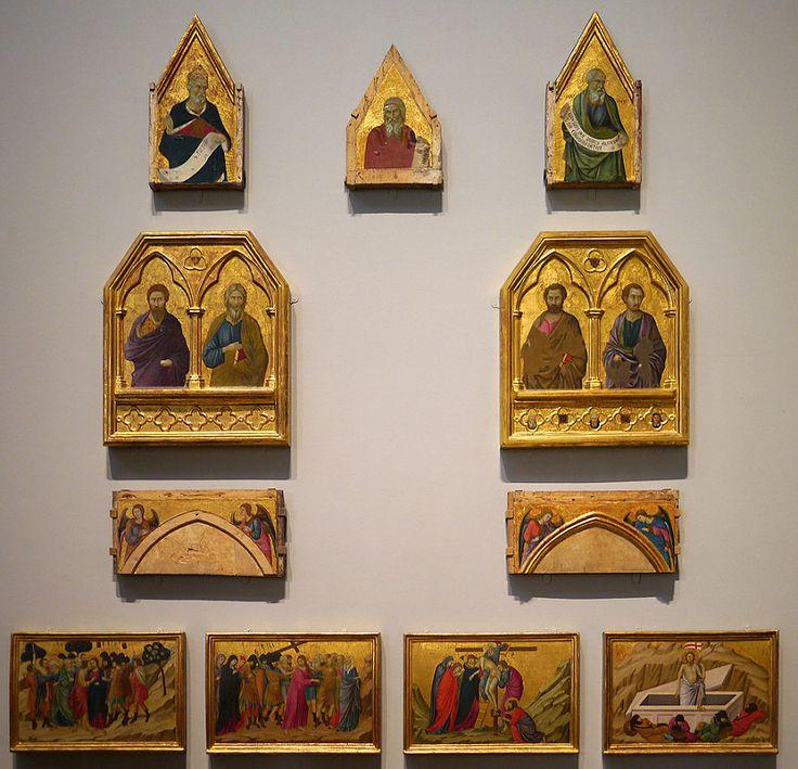 Gruppo di dipinti – Pala di Santa Croce. Ugolino di Nerio (1325-28 ca). Questo pannello ha costituito la parte centrale delle sette scene della Passione di Cristo nella predella della pala dell'altare maggiore di S. Croce, a Firenze.National Gallery – Londra