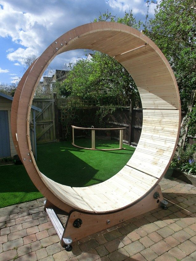 Dean Ovel Solidworks And 24 Hours In A Human Hamster Wheel Hamster Wheel Cat Playground Outdoor Hamster
