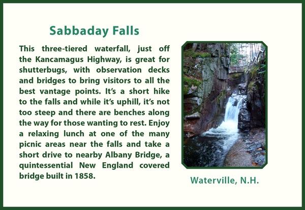 Sabbaday Falls -Kancamagus Hwy