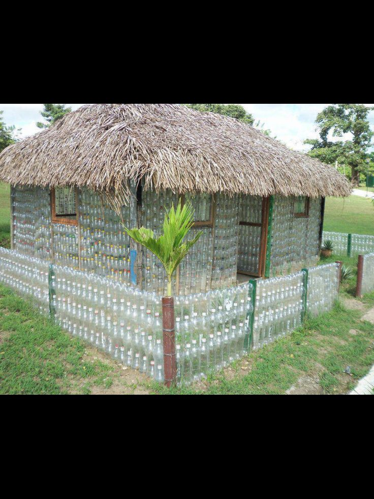 House of recycled plastic bottles