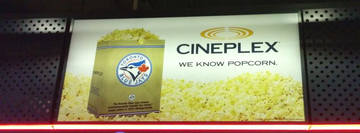 Cineplex popcorn, not just at the movies anymore.