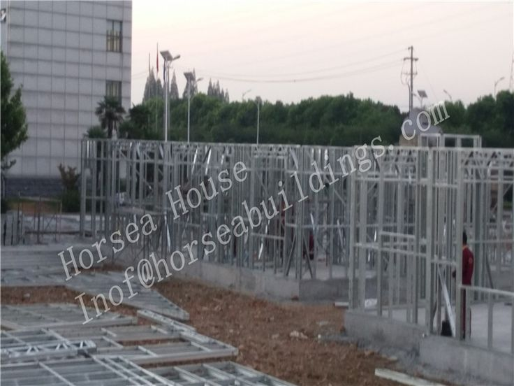 ight steel frame building consists of structural wall frames and roof trusses, manufactured from cold-formed light gauge galvanized steel sections.