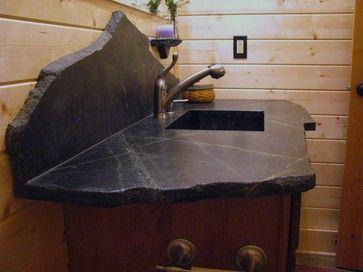 Saratoga Soapstone Vanity Top Eclectic Bathroom