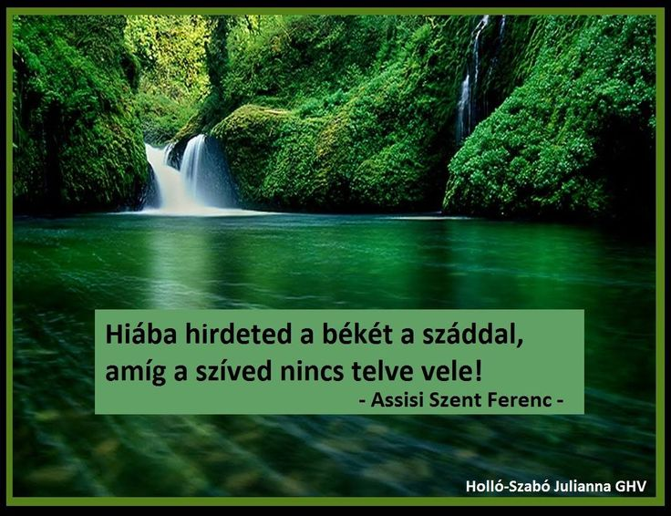 Assisi Szent Ferenc gondolata a békéről. A kép forrása: Holló-Szabó Julianna Ghv