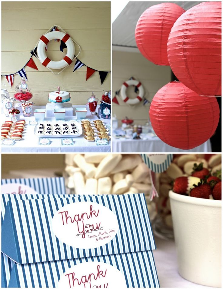 real parties nautical first birthday party nautical theme baby